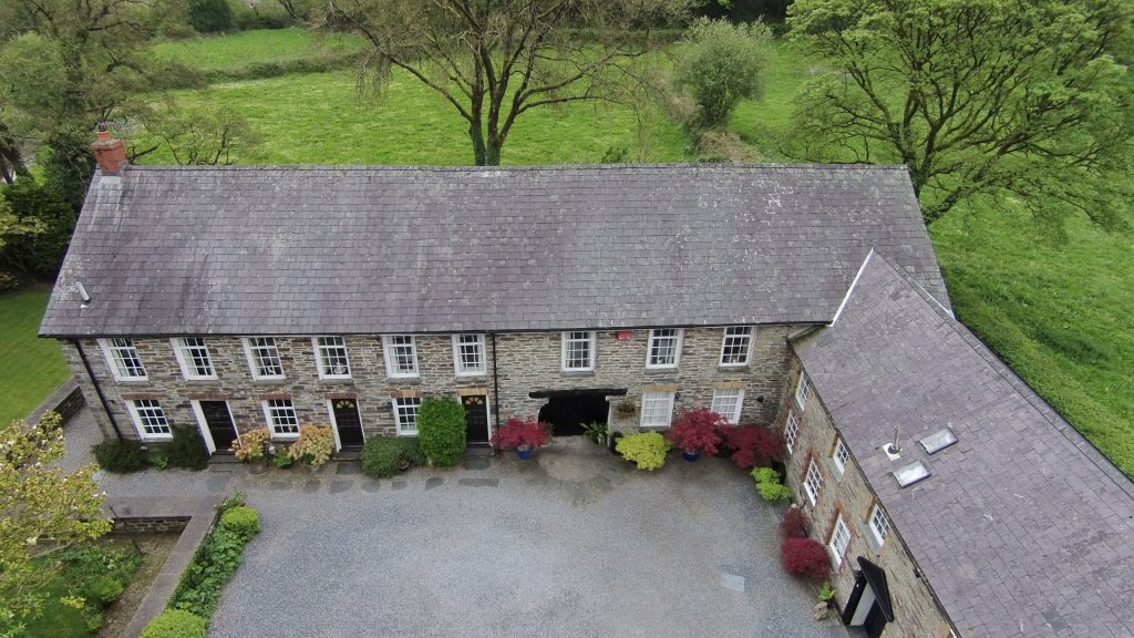 Dolgoch Mill Cottages from Above